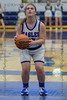 #12 Haylee Davis goes to the line for a two shot freethrow. Southwest Christian HS girls basketball vs. Dallas Christian HS girls basketball in the TAPPS 5A semifinals, March 9, 2021