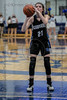 #21 Dallas CHS forward takes a turn at the free throw line. Southwest Christian HS girls basketball vs. Dallas Christian HS girls basketball in the TAPPS 5A semifinals, March 9, 2021