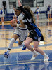 #5 SWC guard Arieona Rosborough draws a foul by #00 Dallas CHS guard Kennedy Chappell.<br />  Southwest Christian HS girls basketball vs. Dallas Christian HS girls basketball in the TAPPS 5A semifinals, March 9, 2021
