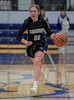 #00 Dallas CHS guard Kennedy Chappell making a fast break against late in the 4th quarter.<br /> Southwest Christian HS girls basketball vs. Dallas Christian HS girls basketball in the TAPPS 5A semifinals, March 9, 2021