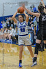 #20 SWCHS forward Dayton Flowers looks for someone to pass to.<br /> Southwest Christian HS girls basketball vs. Dallas Christian HS girls basketball in the TAPPS 5A semifinals, March 9, 2021