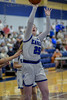 #25 SWCHS guard Teagan Milliken goes in for a lay-up.<br /> Southwest Christian HS girls basketball vs. Dallas Christian HS girls basketball in the TAPPS 5A semifinals, March 9, 2021
