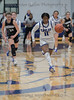 #11 SWC guard Ariele Rosborough brings the ball up court on a fast break. <br /> Southwest Christian HS girls basketball vs. Dallas Christian HS girls basketball in the TAPPS 5A semifinals, March 9, 2021