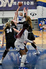 @20 SWC guard Dayton Flower shoots a jumper over the Dallas CHS defense. <br /> Southwest Christian HS girls basketball vs. Dallas Christian HS girls basketball in the TAPPS 5A semifinals, March 9, 2021
