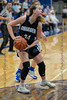 #34 DCHS forward Ansley Hughes looks for someone to pass the ball to. <br /> Southwest Christian HS girls basketball vs. Dallas Christian HS girls basketball in the TAPPS 5A semifinals, March 9, 2021