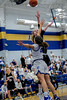 #32 Dallas CHS forward Caitlynn Jordan shoots over #20 SWCHS guard Dayton Flowers. <br /> Southwest Christian HS girls basketball vs. Dallas Christian HS girls basketball in the TAPPS 5A semifinals, March 9, 2021