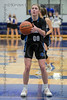 #00 Dallas CHS guard Kennedy Chappell eyes the basket as she shoots a free-throw. <br /> Southwest Christian HS girls basketball vs. Dallas Christian HS girls basketball in the TAPPS 5A semifinals, March 9, 2021