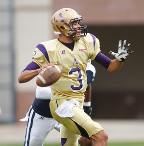 Alcorn's  John Gibb looks to pass. (Charles A. Smith/For the Clarion Ledger)