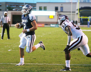 Clayton Moore runs past a Texas Southern defender for the first score of the game.