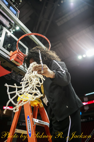 SWAC Basketball 2016 Tournament Ladies Championship Celebration