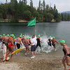 Start of the 2-mile swim.