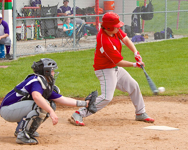 Skip Traynor - Special to the Sun Sacred Heart Academy and Farwell High School battled on the baseball and softball diamonds at Lincoln Fields in Mt. Pleasant Tuesday, May 20, 2014.