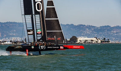 Oracle Team USA on a practice run.