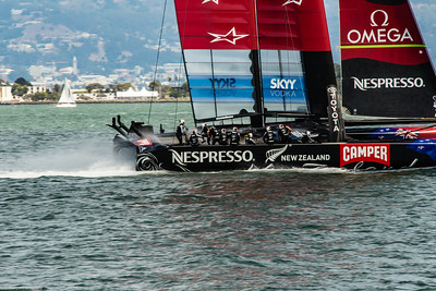 Team NZ does a fly-by