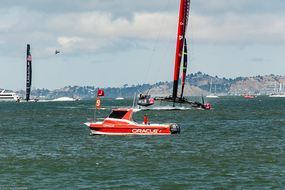 Team NZ heads to the finish line in race five.