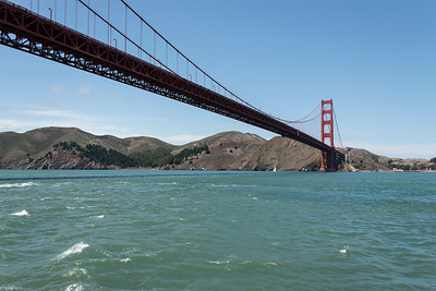 Golden Gate Bridge from San Francisco Bay.
