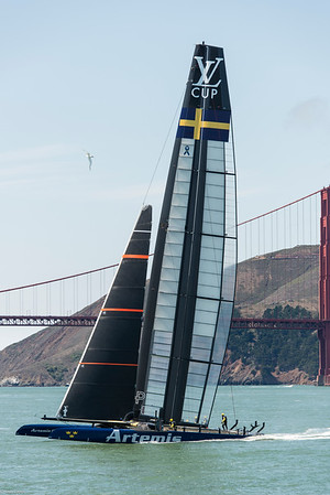 Artemis Team practices on San Francisco Bay.