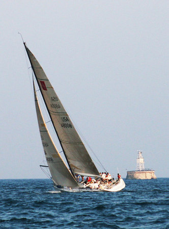 Aug 9, '06: Racine WI - RYC Wed Nite Sailing Races aboard Hasten
