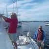 Preparing Main Sail