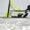 Yannick Lefebvre and Tom Pelsmaekers from Belgium race a 49er  at the Delta Lloyd Regatta held in Medemblik, Netherlands on Monday 24th May 2016
