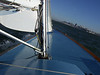 """Sailing on San Francisco Bay on Ron Young's classic wooden boat """"Youngster"""""""