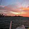 Equinox sunset sail on San Francisco Bay