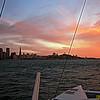 Equinox sunset sail on San Francisco Bay