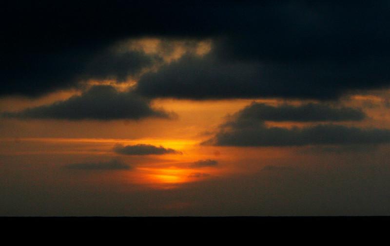 First night sunset