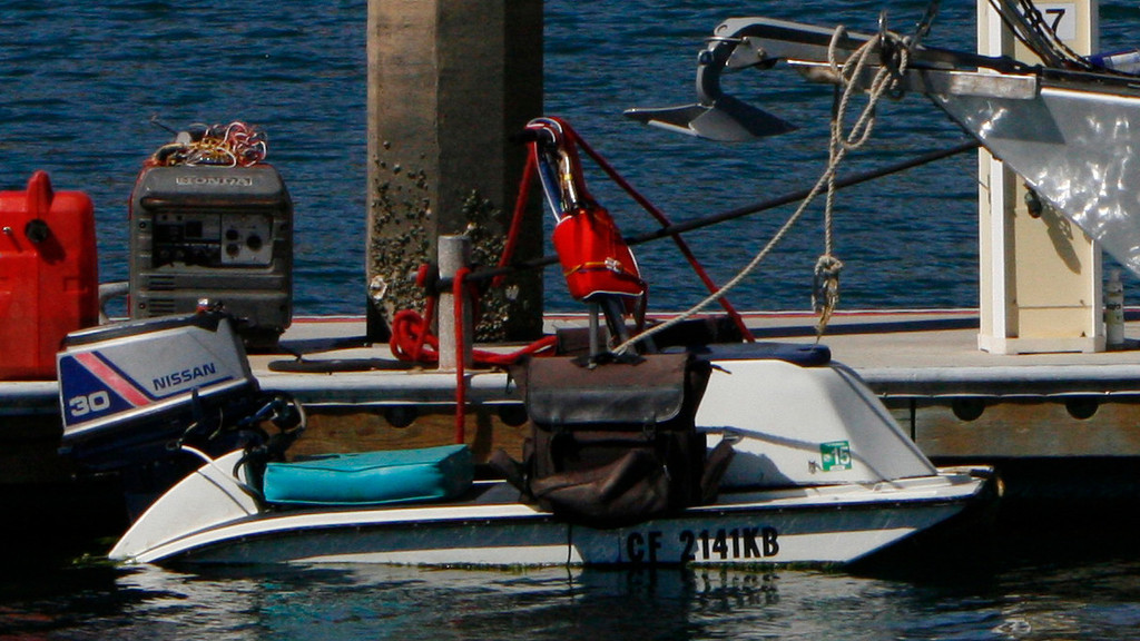 A cute little ski doo for tooling around the harbor.