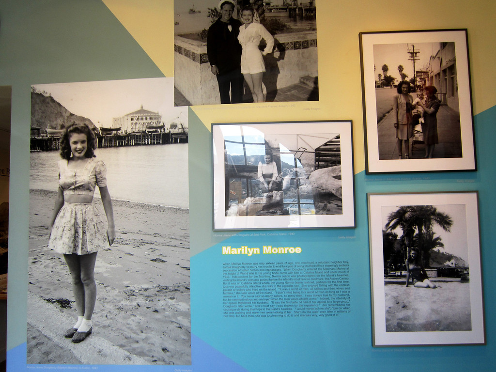 Marylyn Monroe moved to Catalina when she was 16.