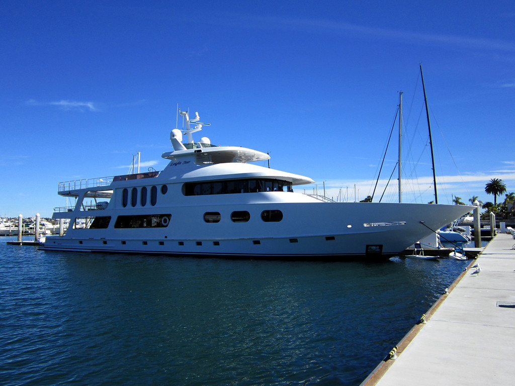 The Neighbors-This little 70' was parked next to us in the Marina when we woke up.
