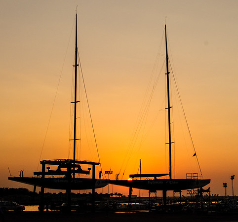 Sailing.  Louis Vuitton Trophy - Dubai, UAE, Round Robin 1, day 2, Dubai UAE. 15 Nov 2010
