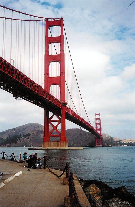 Fishing under the Golden Gate Bridge