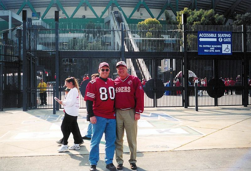Brett & Bob outside Candlestick