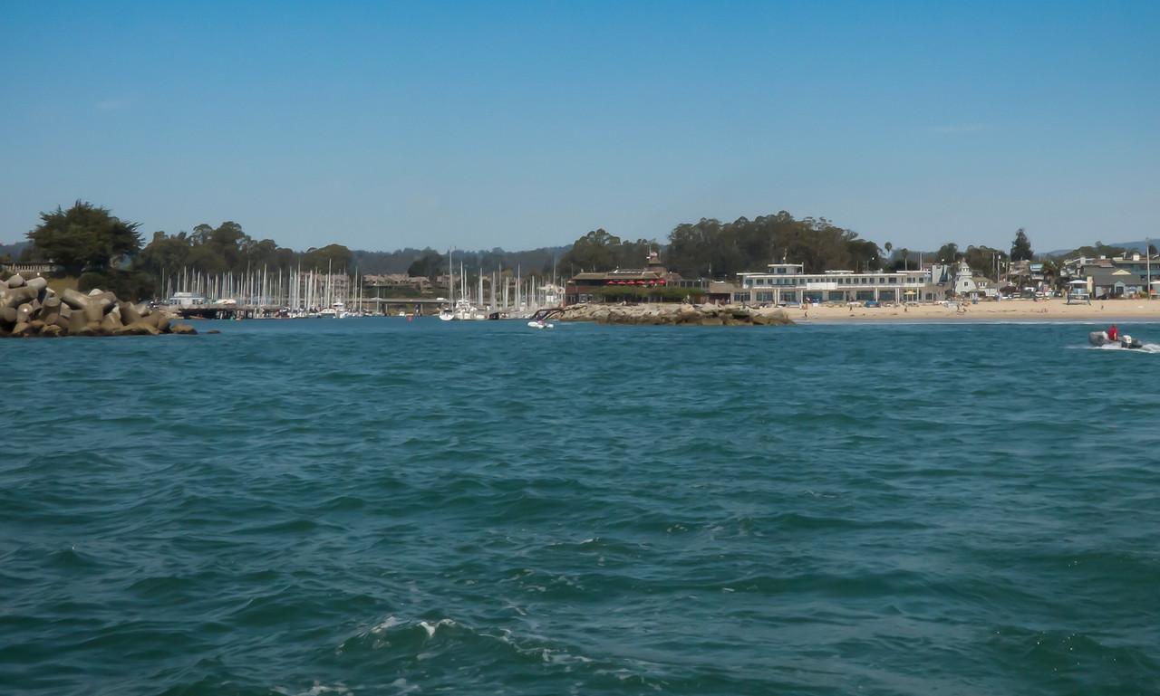 Leaving Santa Cruz Harbor