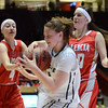 Santa Fe High girl's basketball team defeated Valencia girl's 38 to 37 in a close Class AAAA semifinal game played at the Pit on the University of New Mexico campus in Albuquerque, New Mexico on Thursday morning March 13, 2014. Santa Fe will play for the championship tomorrow, Friday 7:30 pm at the Pit. Clyde Mueller/The New Mexican