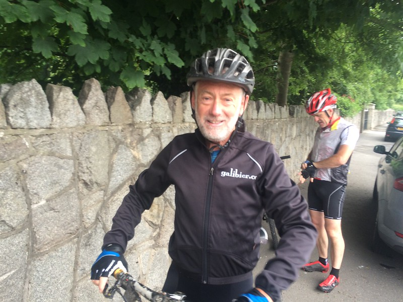 Pat on Jun 11 2016 getting ready to beat Eamon in the sprint