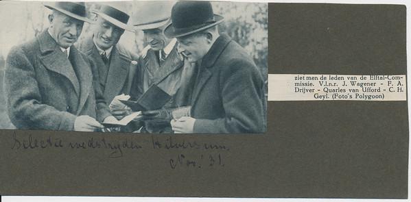 19311122 Onderschrift: selectiewedstrijden Hilversum Nov'31 Opmerking: blijkens De Telegraaf van 13 november 1931 op 22 november 1931.   Archief DHV Album Drijver Uit: ??