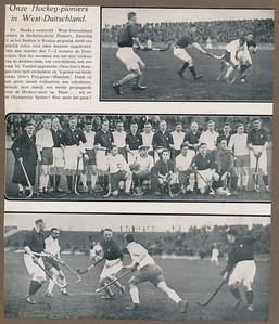 19280218  Uit: ??  Gezocht Delpher tijdschriften 1928op pioniers. Niets gevonden.  Drijver staat niet op middelste foto. Speelde pas na de rust.  Wel op bovenste en onderste foto.    ArchiefDHV Album Drijver