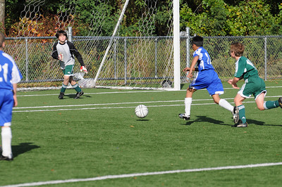Just before the goal..