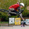James Ontiveros gets some air on his bike at Scott Carpenter Skate Park on Thursday.<br /> Cliff Grassmick / May 13, 2010