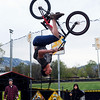 Jordan Greene performs a series of bike tricks at Scott Carpenter Park on Thursday.<br /> Cliff Grassmick / May 13, 2010
