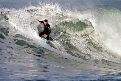 Scott Creek Surfing Feb 5 2012