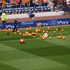 Balloons on the pitch..