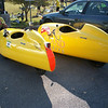 what is that? A kayak? A giant air of clogs? Cool wheels I guess...
