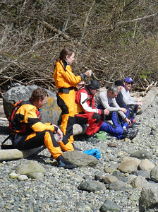 Alex re-donned her now dry drysuit during lunch and further class instruction.