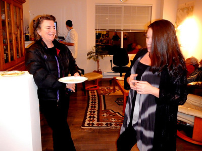 Andree and Tina in conversation