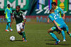 PORTLAND, OR - SEPT 15: The Portland Timbers Darlington Nagbe #6  moves the ball against Seattle Sounders Andy Rose #25 during the game, on Sep 15, 2012 at Jeld-Wen Field in Portland, OR.