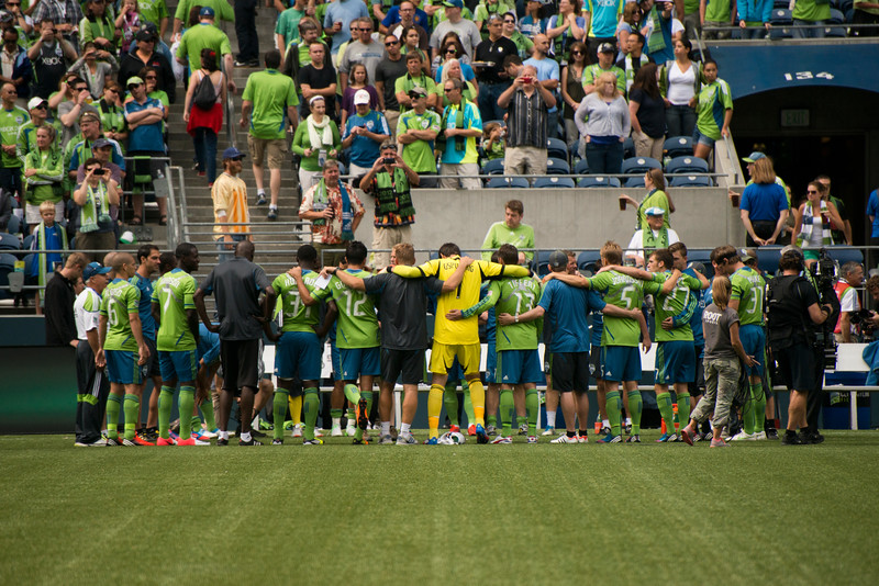 A few last words of wisdom from Coach Sigi Schmid, some words of encouragement from the captain...