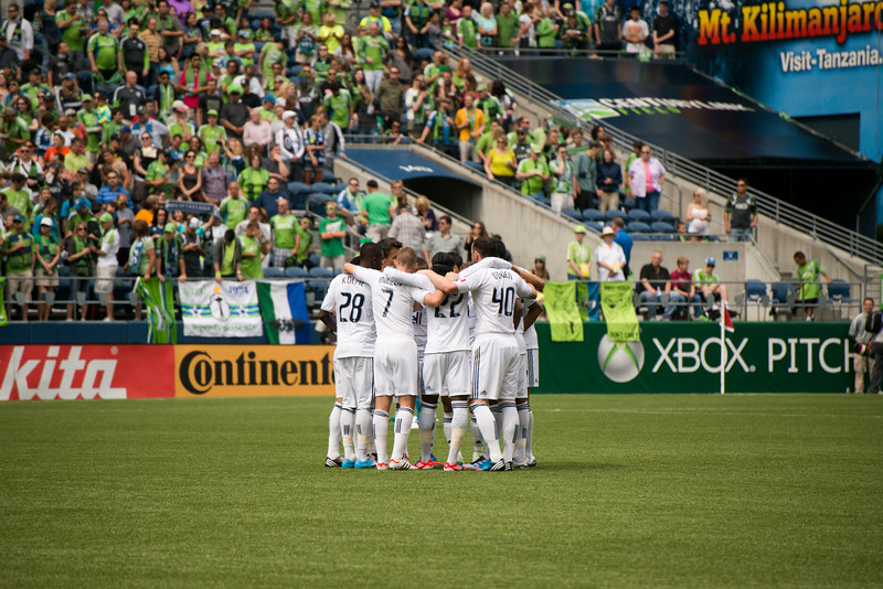 Well, we can't ALL have a giant Sounders-esque huddle, now can we?